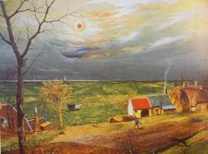 Blick in den Dangaster Groden. 1936. Franz Radizwill Haus