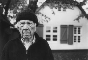 Der Maler Franz Radziwill in Dangast. Foto (c): Franz-Radziwill-Archiv
