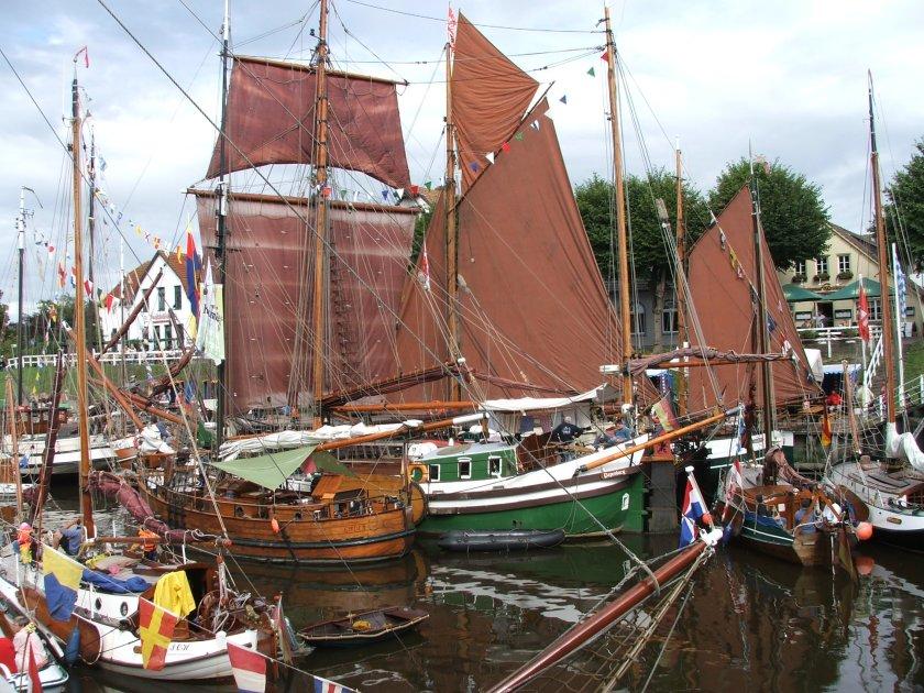 """50 Traditionsschiffe werden zur """"WattenSail"""" an diesem Wochenende in Carolinensiel erwartet. Foto (c): Deutsches Sielhafenmuseum"""
