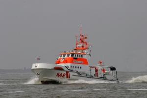 """Der Seenotrettungskreuzer """"Bernhard Gruben"""". Foto: DGzRS"""