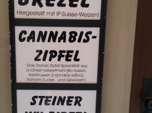 Angebot eines Bäckers in Stein am Rhein, Schweiz. Foto: Helmut Burlager