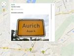 """Die """"Plattdüütsche Landkoort"""" stellt Orte vor, die sich für zweisprachige Ortsbeschilderung entschieden haben, so wie Auerk, die ostfriesische Hauptstadt."""