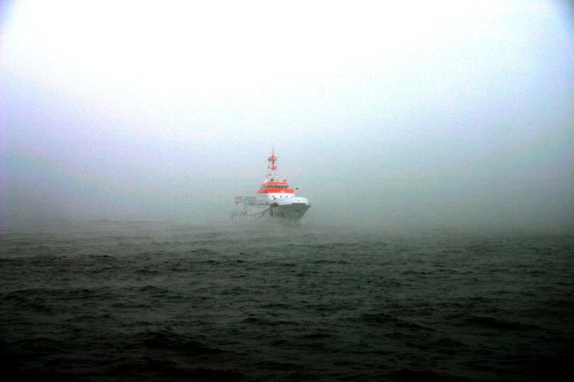 Nebel mit Sichtweiten zum Teil unter zehn Metern hat am Wochenende (29. /30. März 2014) zu mehreren Einsätzen der Seenotretter geführt. Auch die HERMANN MARWEDE von der Station Helgoland war im Einsatz (Archivbild DGzRS).