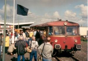 Schwarze Fahne für den letzten Tidezug.  Foto: Archiv Manfred Terhardt