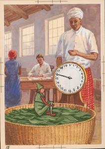 Sammelbildchen von OnnO Behrends: Teeblättchens Reise. Foto (c): Wattenmeer-Besucherzentrum