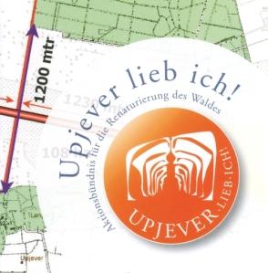 """Titel einer Informationsbroschüre der Aktionsgemeinschaft """"Upjever-lieb-ich!"""""""