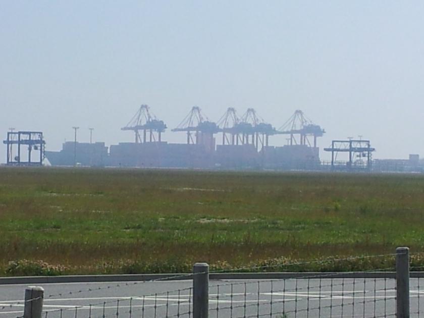 Container-Tiefwasserhafen Jade-Weser-Port am 9. Juni 2014. Foto: Helmut Burlager