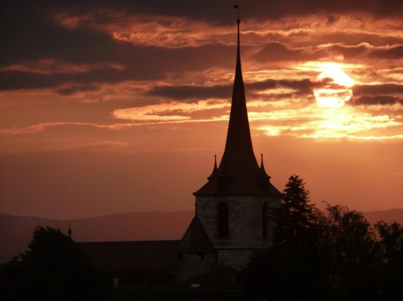 Murten, Schweiz, Sonnenuntergang. Foto (c): Helmut Burlager