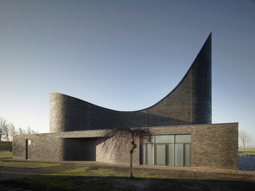 """Ausgezeichnet mit dem Fritz-Höger-Preis 2014 in Silber: Die """"Kirche am Meer – St. Marien"""" in Schillig von Königs Architekten, Köln. Foto ©: Christian Richters"""