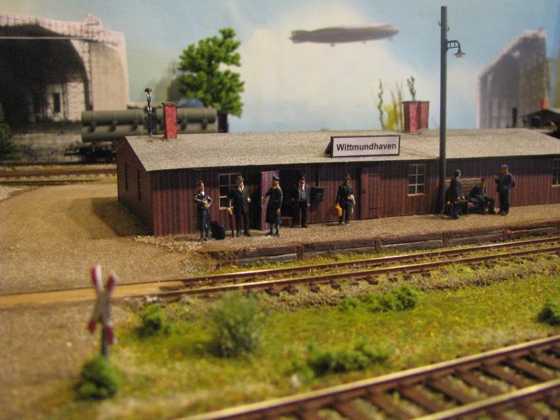 Der Haltepunkt Wittmundhaven im Modell. Foto: LAW